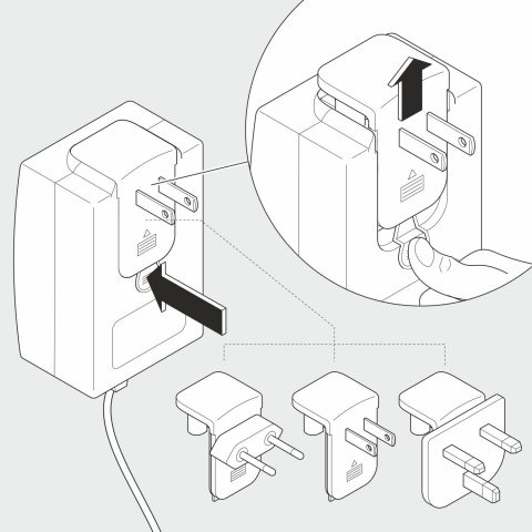 Illustration in 2D: Adapter