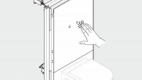 Illustration in 3D: Toilettenspülung