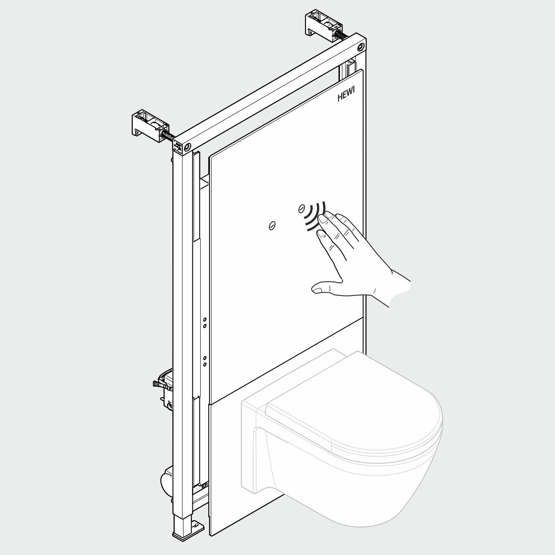Illustration in 3D, Toilettenspülung