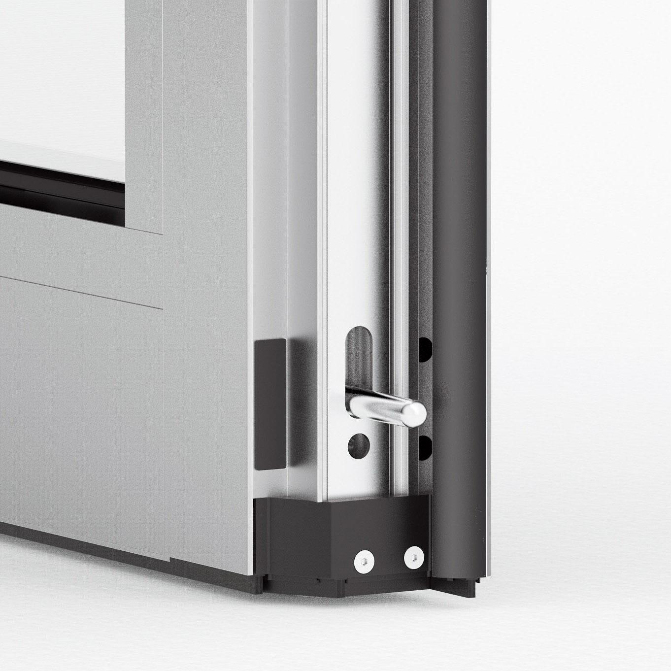 3D Visualisierung Aufbau Schiebetür Detail